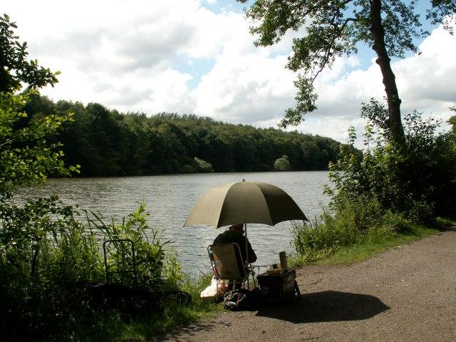 Fishing at Newmillerdam