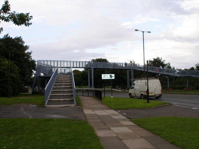 Pedestrian footbridge over the A1027