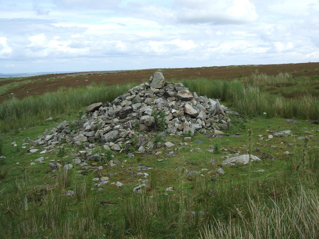 Pile of stones Pennine Way, Ravock