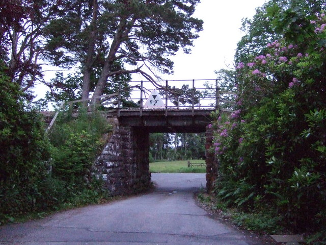 Low bridge under Golspie to Brora railway