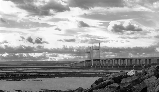 Second Severn crossing from Severn Beach