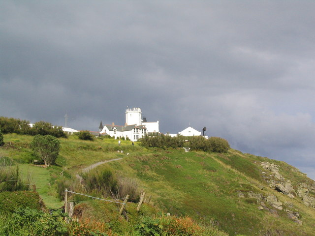 Youth Hostel and (old) lighthouse on Lizard Point