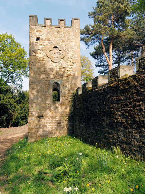 Restored Wentworth Castle folly.