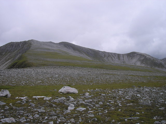 Northern slopes of  Stob Coire Gaibrhe - the Grey Corries