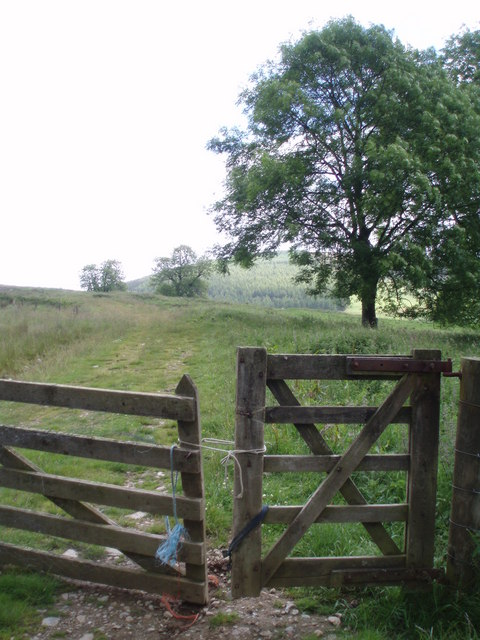 Gate at the head of Backwater reservoir