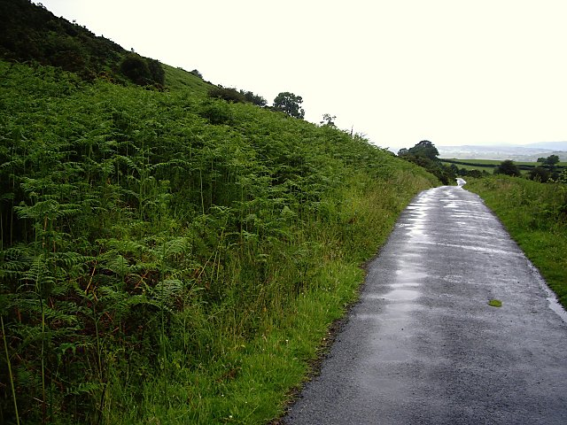 Unfenced stretch of road