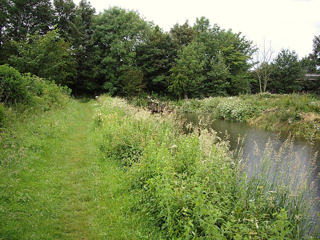 End of a section of the Lancaster Canal