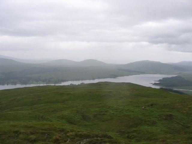 Grey clouds over Loch Tulla