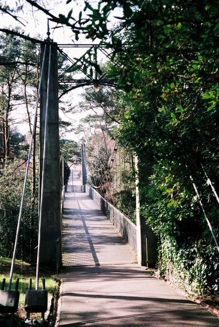 Westbourne: the suspension bridge.