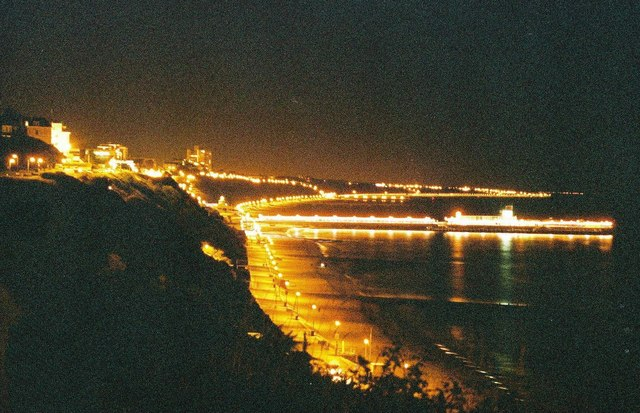 Bournemouth: pier by night