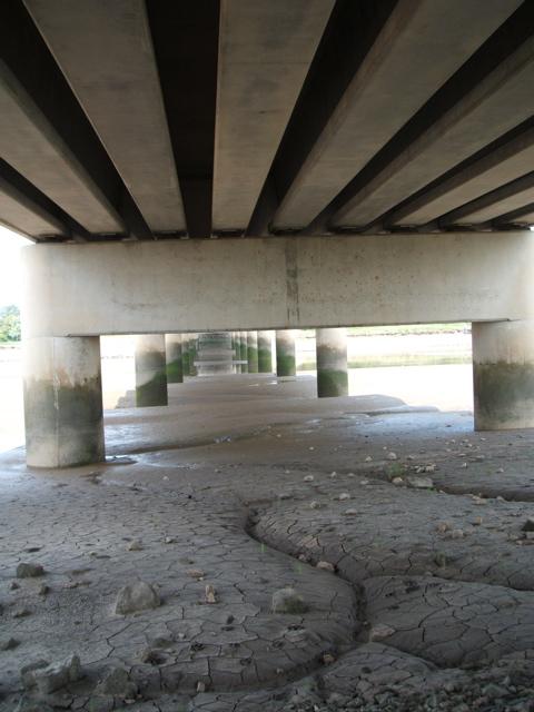 Under Shard Bridge looking north
