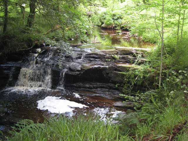 Waterfall on Lambdoughty Burn