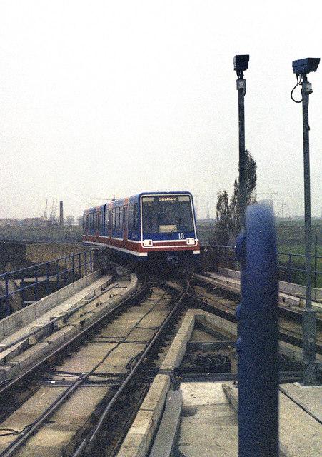 Docklands Light Railway at Island Gardens