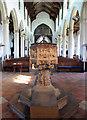 TG3818 : St Catherine, Ludham, Norfolk - Font by John Salmon