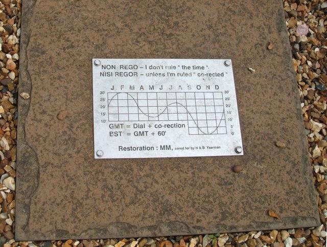 Sun Dial Information Plaque