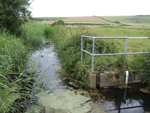 Drain and sluice in the Cuckmere Valley