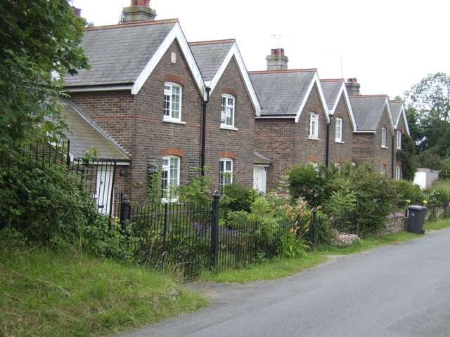 Row of Victorian cottages at Friston