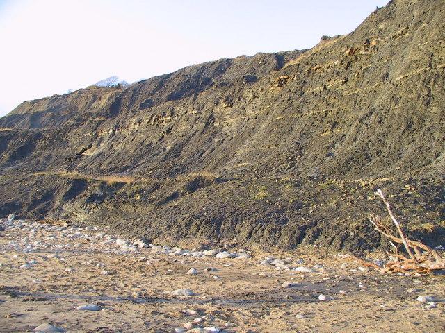 The lower slopes of Black Ven