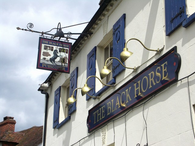 Signs on the Black Horse Pub