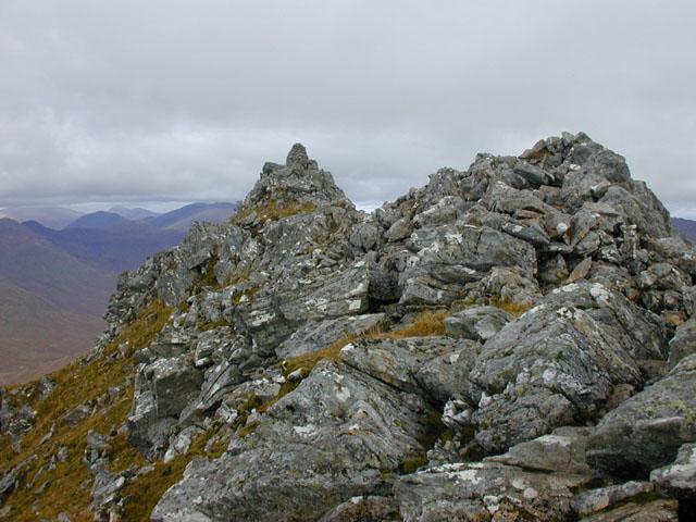 The top of Sgurr a' Bhealaich Dheirg