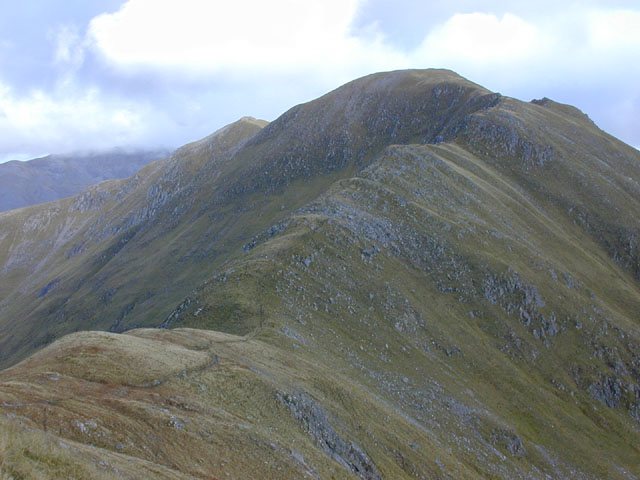 The west ridge of Aonach Meadhoin