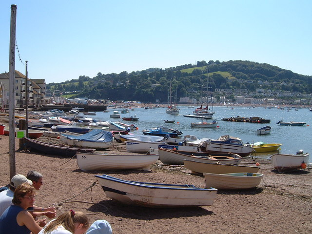 Teignmouth - boats on the Strand foreshore