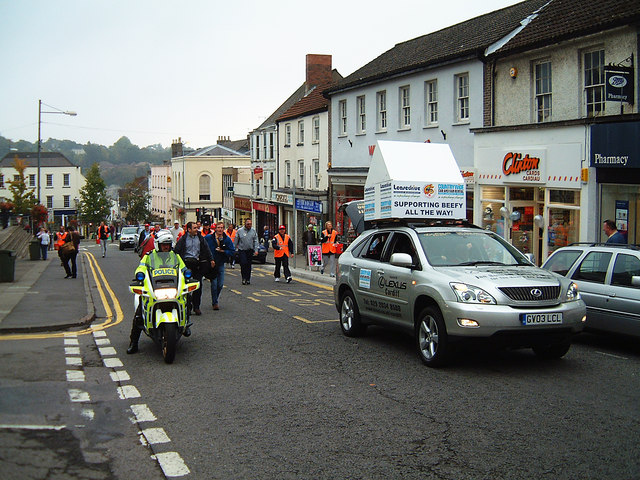 Chepstow High Street - charity walk