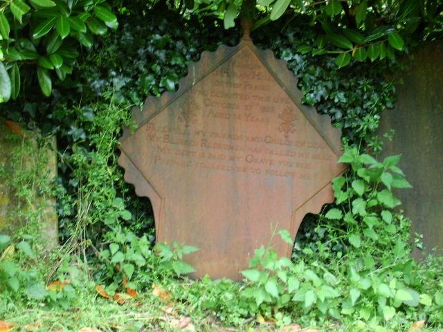 Cast Iron Headstone