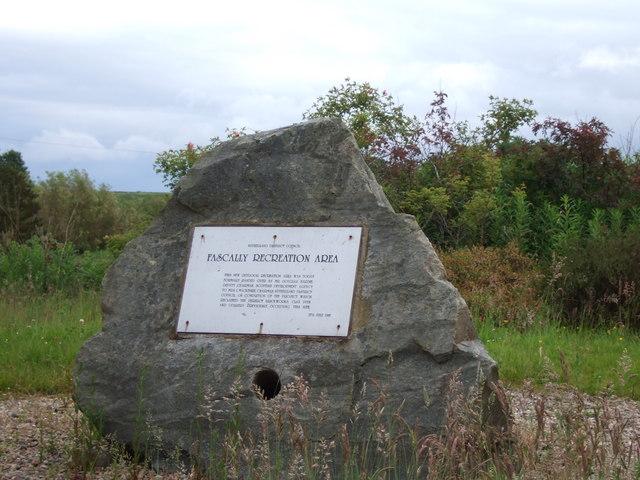 Fascally Recreation Area plaque