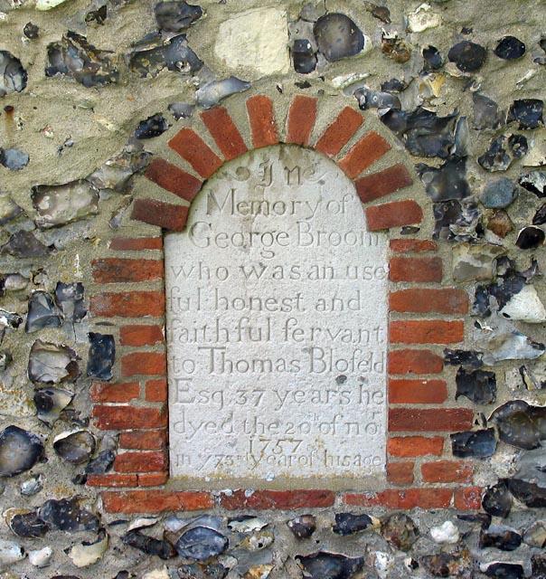 St John, Hoveton, Norfolk - Exterior wall monument