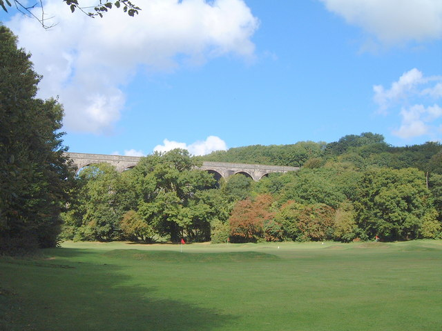 The pitch and putt golf course at Porthkerry