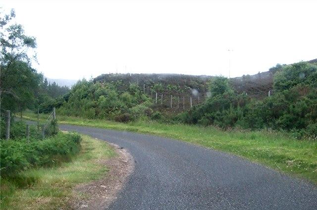 Bend in Glen Brora road