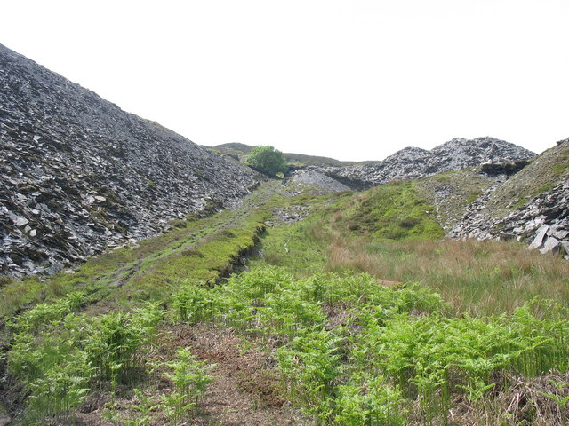 The bottom of the trwnc incline from the Deeside Quarry tramway extension