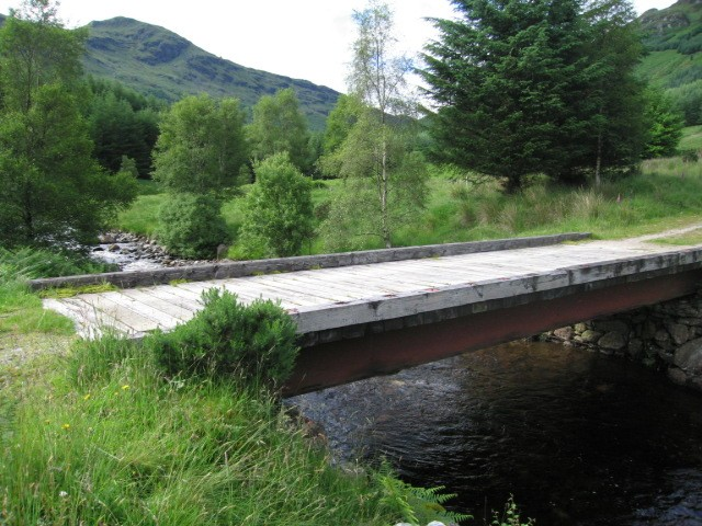 Bridge on a forestry track