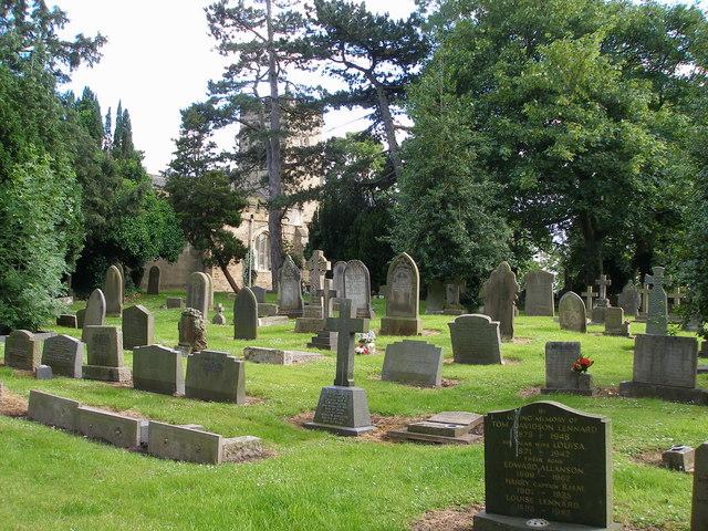 The churchyard at Egglescliffe