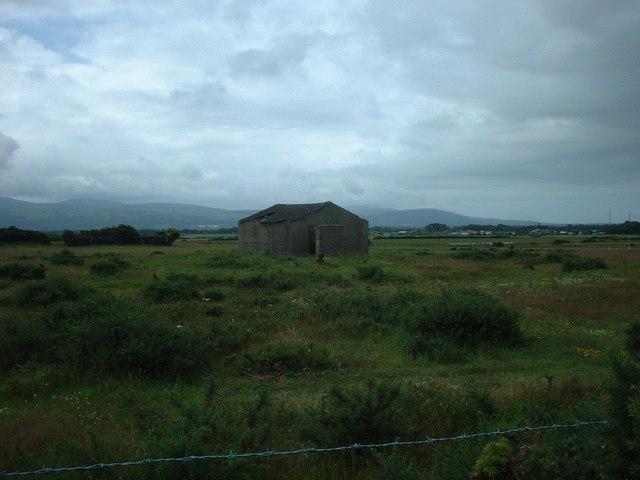 Derelict airfield building near Andreas
