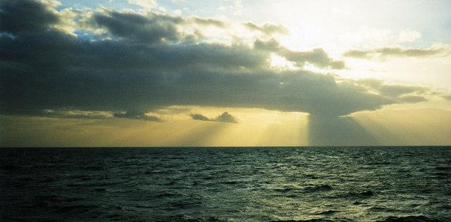 Setting sun Cardigan Bay