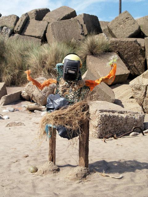 Beach sculpture Spurn Point