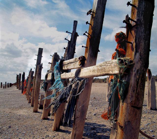 Groyne on beach Spurn