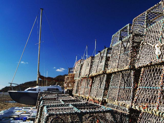 Lobster pots Lyme Regis