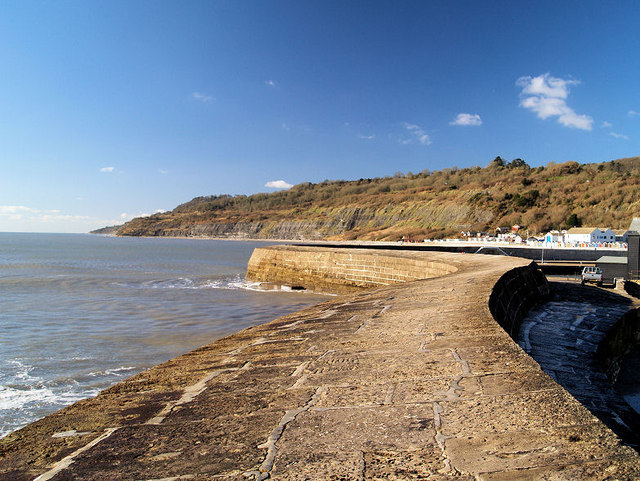 Looking West along The Cobb Lyme Regis