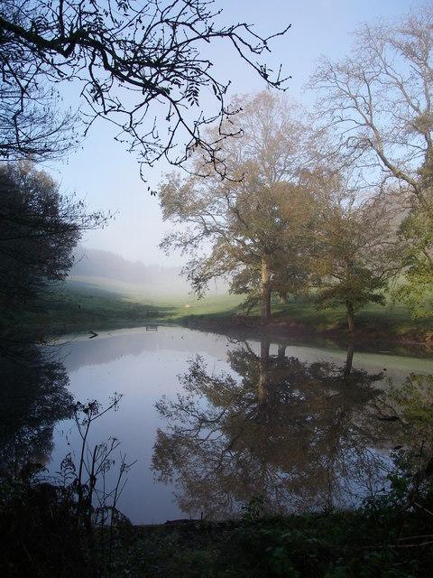 Pond in Six Wells Bottom