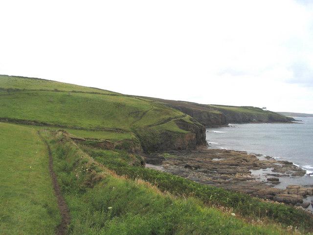South West Coast Path along Tremearne Cliff