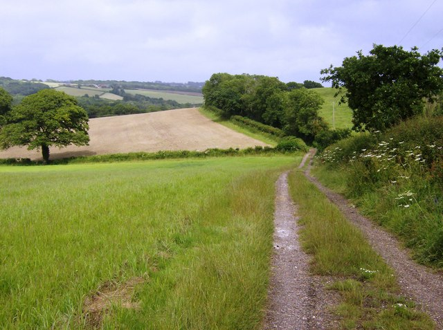 Byway towards A3055