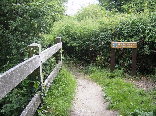 Entering Brading Marsh nature reserve