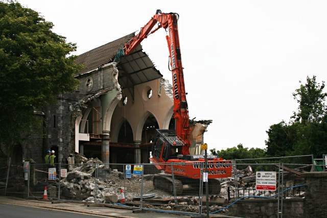 The Demolition of St Michael's Church, Albert Road