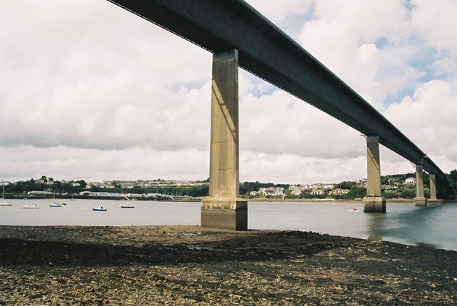 Cleddau Bridge and Milford Haven