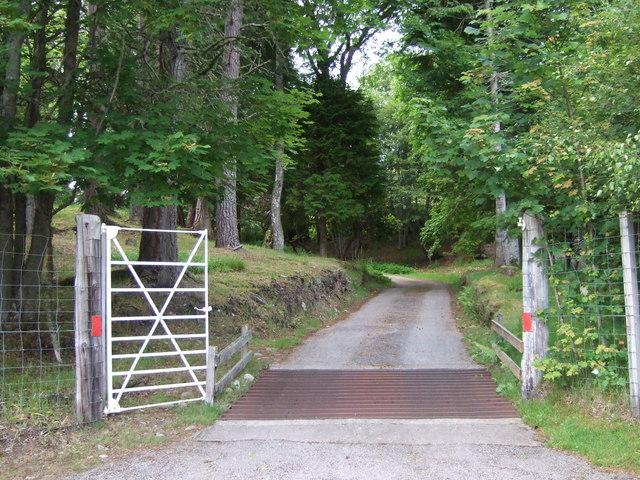 Kilcalm entrance to Gordonbush Lodge
