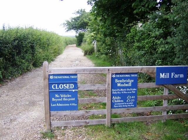 Entrance to Bembridge Windmill