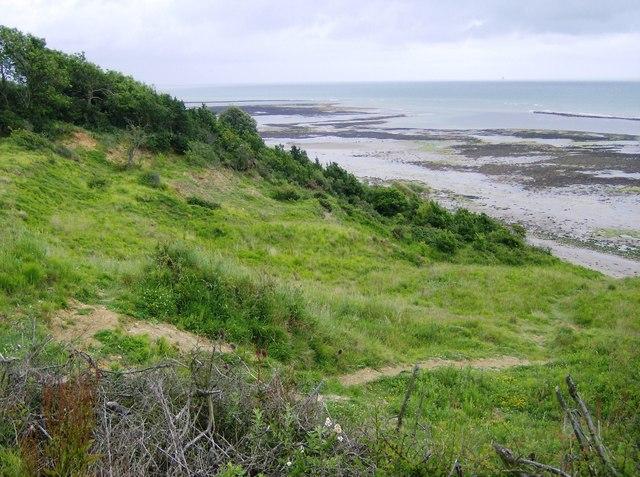 Coastal slump at Black Rock Ledge